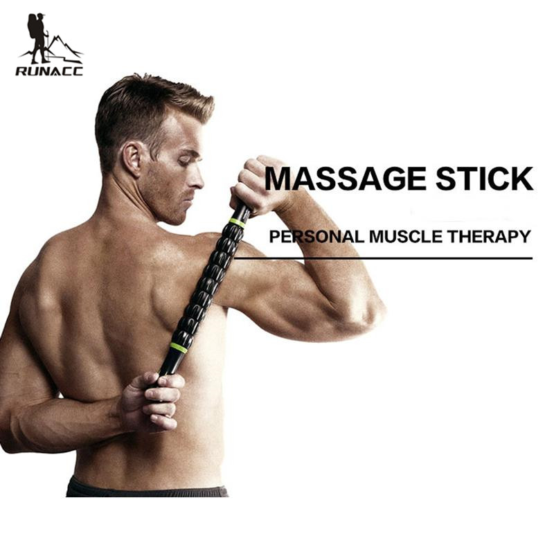 RUNACC Muscle Roller Stick Body Massage Roller Body Massager for Relieving Muscle Soreness and Cramping Black