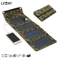 7W USB Solar Power Bank Portable Solar Panels Battery Charger Camping Travel Folding For Phone Tablet
