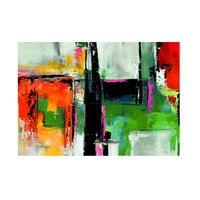 ภาพวาดศิลปะนามธรรมขนาด90X60 Hcmศิลปะคริลิคภาพวาดสีน้ำมันผ้าใบ