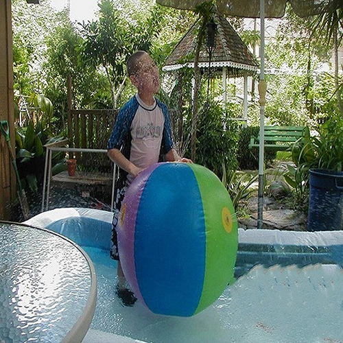 Childrens-Outdoor-Lawn-Swimming-Beach-Inflatable-Water-Fountain-Ball-5