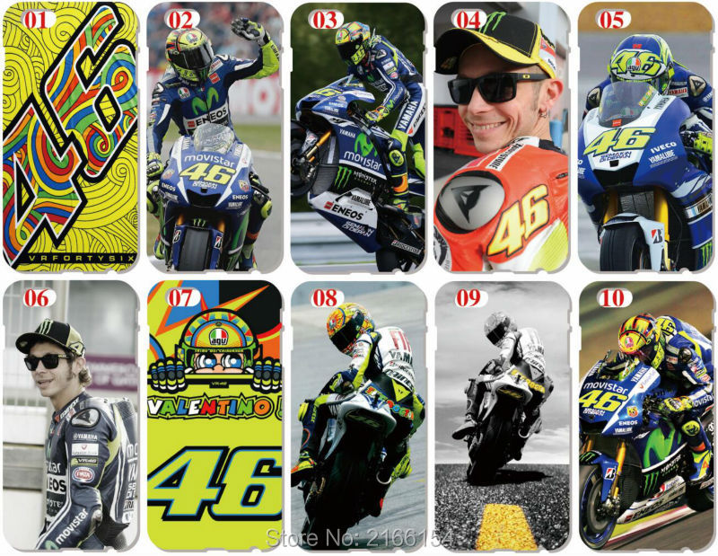 Valentino Rossi 46 Shell Cover For iphone 10 X 4 4S 5 5S SE 5C 6 6S 7 8 Plus For iPod Touch 5 6 Phone Case Coque Fundas Bumper