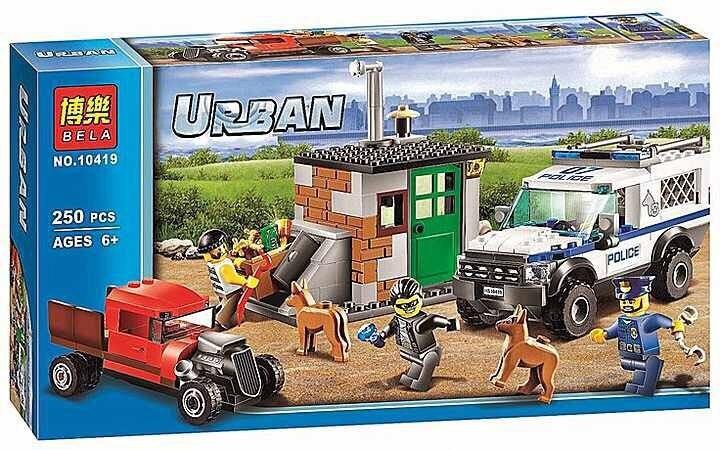 10419 250Pcs City Police Dog Unit Model Building Kits figureblock Blocks Brick Kid Toys Gift Compatible With lego