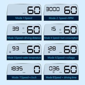 Image 2 - WiiYii hud T900 HUD C500 obd pantalla gps velocímetro universal de advertencia de exceso de velocidad del coche sistema de alarma del proyector del parabrisas