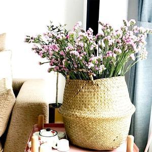 Image 2 - Cesta de mimbre plegable para colgar, maceta de mimbre hecha a mano para plantas, maceta moderna decorativa para el hogar