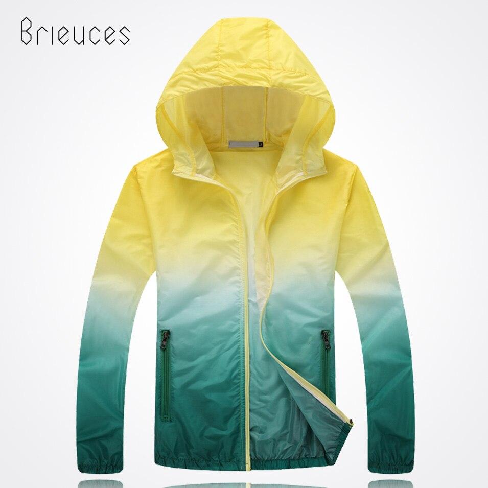 Brieuces Unisex Fashion Slim Coat UV rainbow Sunscreen Clothing Plus Size Long Sleeved Casual Jacket Women Basic Coats