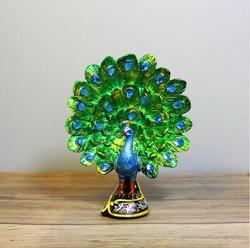 Europeu natural resina pavão casa estátuas para decoração schleich estátua animal decoração ornamento presente