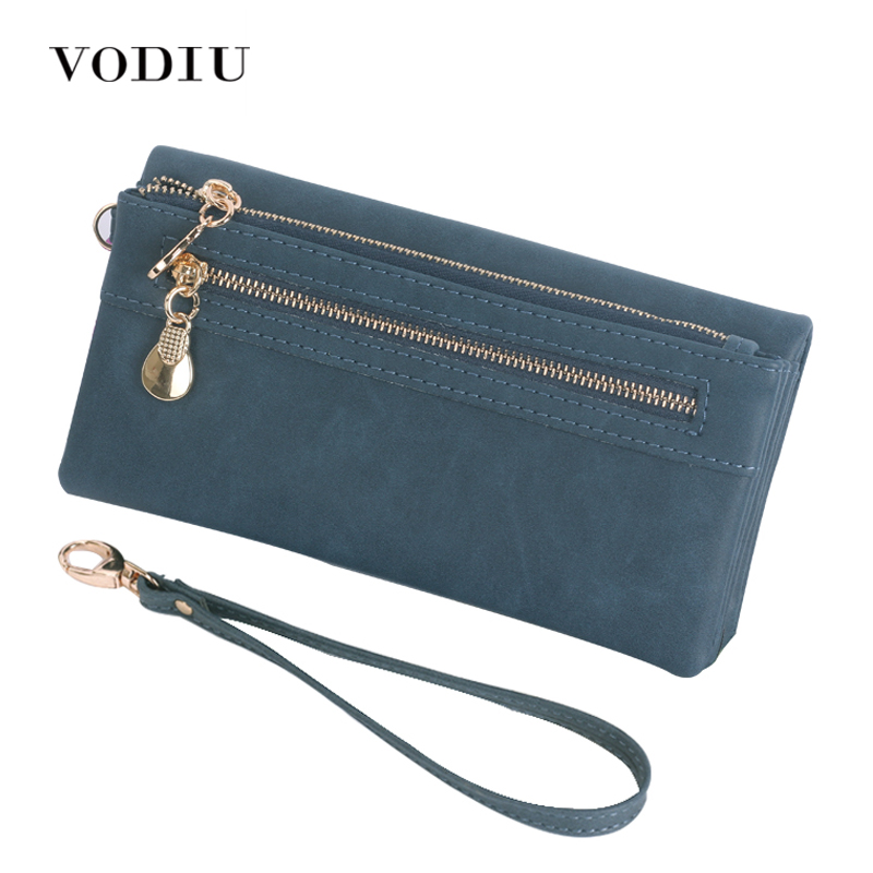 Women Wallets Leather Scrub Long Wristlet Phone Card Holder Coin Dollar Price Female 2017 High Quality Clutch Double Zip Pocket wristlet travel women long wallet double zipper female clutch coin card phone card holder brand leather casual dollar cute purse