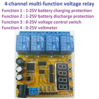 4 channel Voltage Control Relay Lithium Battery Car Battery Charging Discharge Protection Board 12V 24V