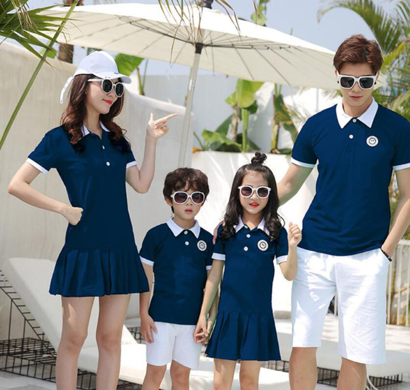Mother Daughter Dresses Family Matching Outfits Summer Dad Son Cotton T-shirt And Short Pant Couple Clothing Family Look