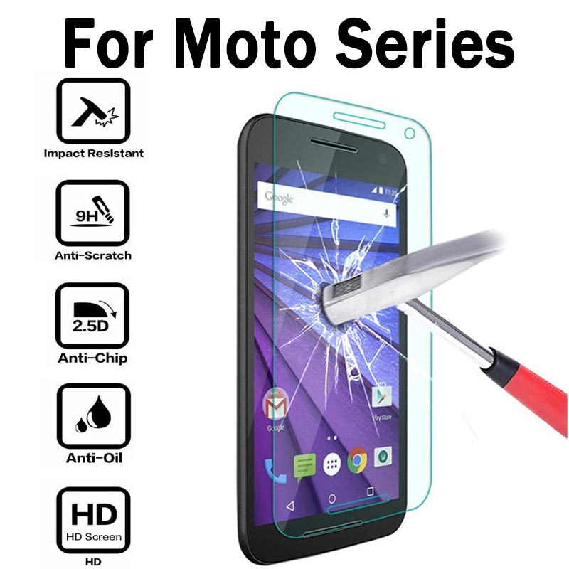 9H 2.5D 2.6mm Tempered Glass Film Screen Protector For Motorola Moto G G2 G3 G4 G4 Plus E E2 X X Style X Play Protective Fims