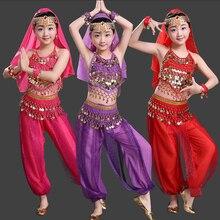 Топы Корректирующие+ Брюки для девочек+ фата+ Пояс для танца живота Производительность Индийский Болливуд Детский костюм индийский Костюмы для бальных танцев танцевальные костюмы для Обувь для девочек
