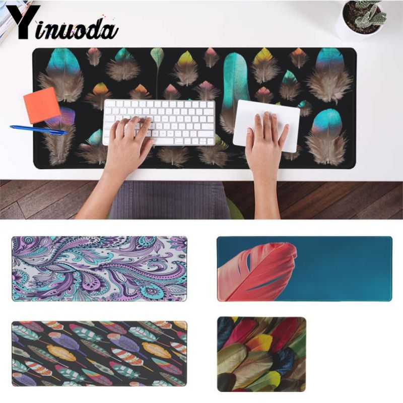 Yinuoda Your Own Mats Dream Catcher Feather Silicone large Pad to Mouse Game Gaming Mouse Pad Gamer Play Mats Version Mousepad