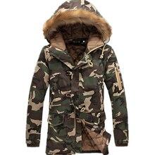 Männer Camouflage Warme Jacken 2017 Männer Winter Jacken Und Mäntel Männer Slim Fit Kapuze Dicken Parka Fit Schnee Kalten Mens Lovers Mantel M-5XL