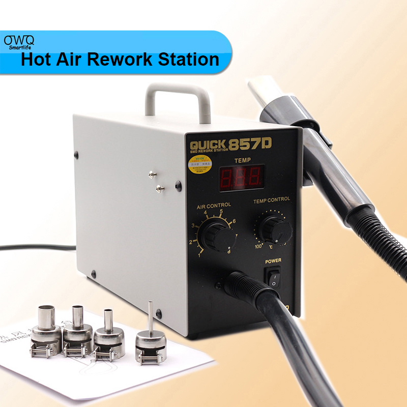 ФОТО Led digital Display SMD Brushless Hot Air Rework Station with Soldering Iron and Heat Gun for Cell Phone Repair