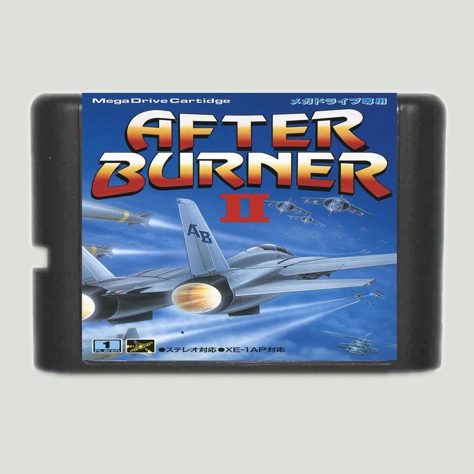 After Burner II Game Cartridge Newest 16 bit Game Card For Sega Mega Drive / Genesis System