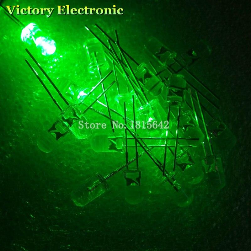 30pcs F5 5mm Green Round Superbright LED Light LED lamp NEW