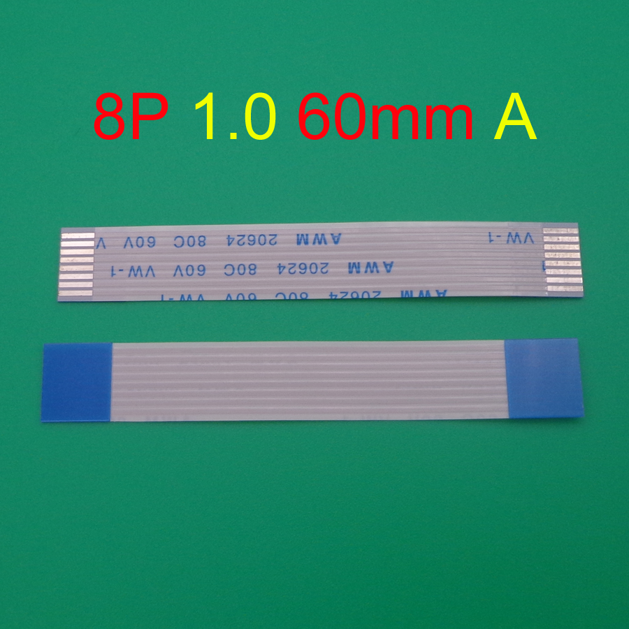 1pcs/lot New FFC <font><b>FPC</b></font> flat flexible <font><b>cable</b></font> 1.0mm pitch <font><b>8</b></font> <font><b>pin</b></font> Forward Length 60mm Ribbon 8pin Flex <font><b>Cable</b></font> 20624 80c 60v vw-1 image