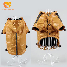 Dog Raincoat Waterproof Small Medium Dogs Clothing Jacket Warm Fleece Puppy Rain Clothes Pet Coat Hoodie 3 Colors DOGGYZSTYLE