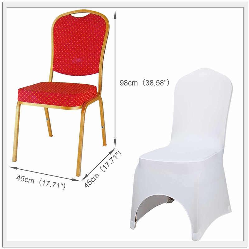 Toptan 10 50 100 adet evrensel Polyester Spandex sandalye Slipcover düğün otel açık parti dekoru ziyafet sandalye kapakları