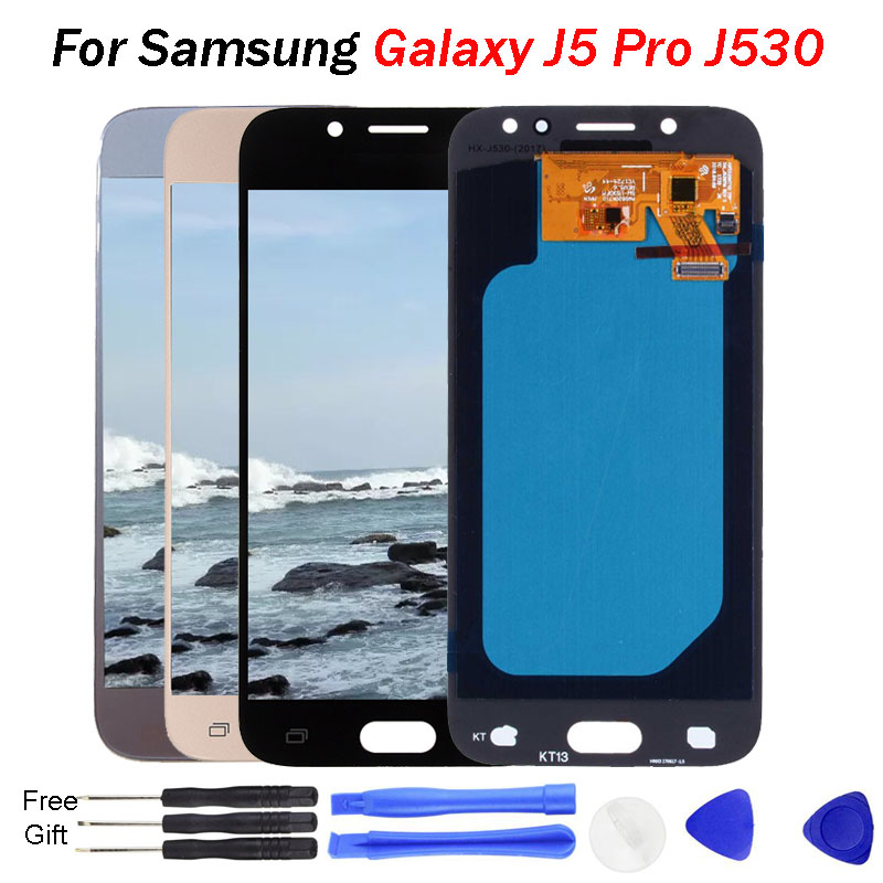 Affichage j5 pro pour samsung j5 pro écran LCD J530 OLED J530F J530FN SM-J530F LCD pour samsung j5 ekran 2017 LCD remplacer les pièces