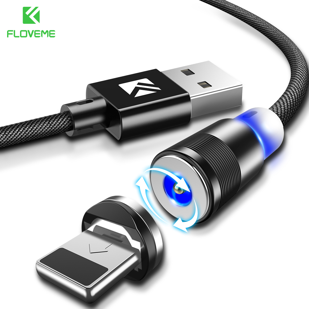 bb57df6cf28 FLOVEME Cable magnético LED Cable Micro USB para Xiaomi redmi note5 Cable de  Nylon USB tipo C Cable de iluminación para iPhone X 7 cargadores