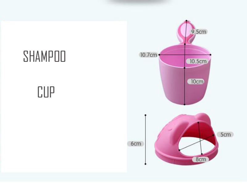 MOTOHOOD Cartoon Baby Shampoo Cup Shower Water Spoon Infant Children Wash Hair Head Cup Kid Bathing Beach Toy For Kids  (1)