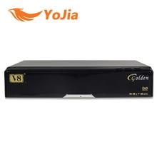 5 unids [original] V8 de Oro Combo DVB-S2 + DVB-T2 + DVB-C TV Vía Satélite Receptor Apoyo PowerVu Cccamd Newcamd Biss Llave USB Wifi