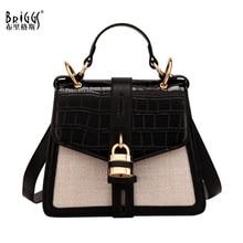 BRIGGS Fashion PU Leather Bag Women Handbags Anmal prints Shoulder Bags Lady Small Messenger Bags 2019 Female Crossbody Bag sac