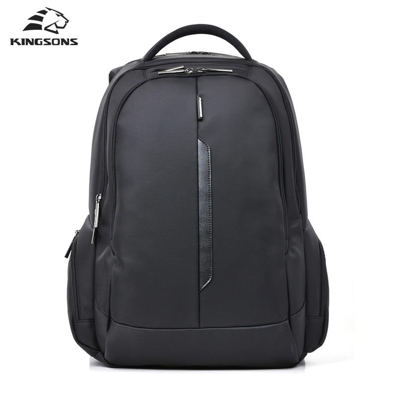 Kingsons Men Backpack Shockproof Laptop Backpack For Men Nylon Waterproof Bag 15.6 Inch School Bag Rucksack Mochila Escolar kingsons backpack for men waterproof men laptop backpack 15 6 inch notebook school bag rucksack mochila escolar