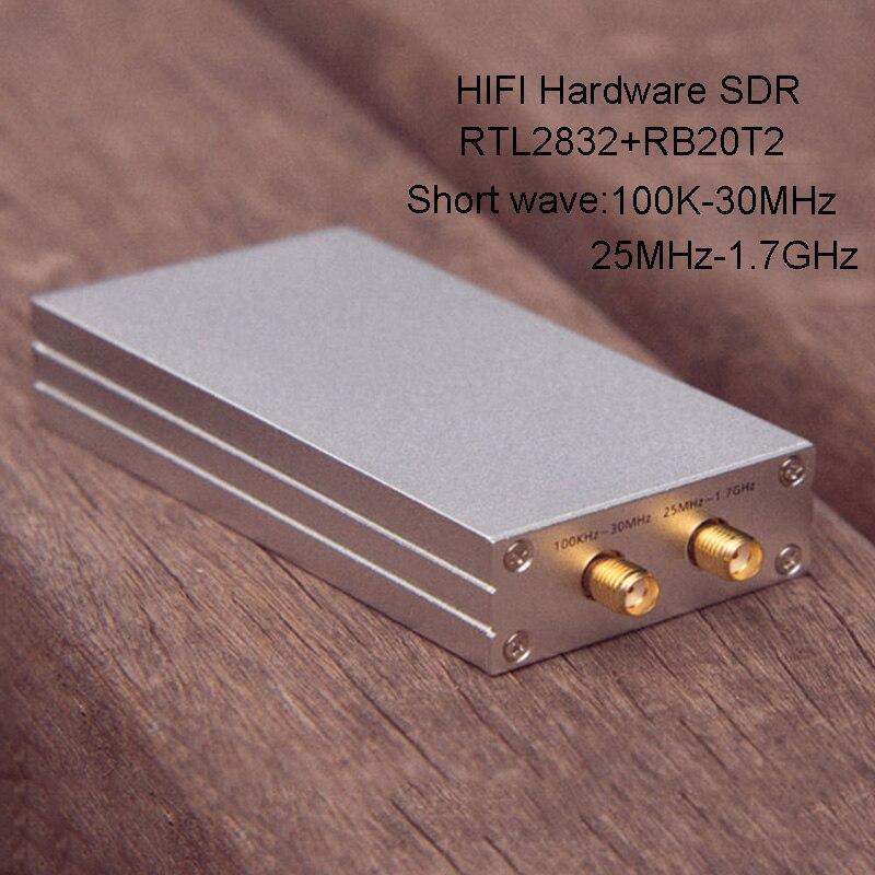 100 K-1.7 GHz DTS Récepteur Radio RTL2832-SDR récepteur pleine bande ondes Courtes Haut Débit Section de Dépôt