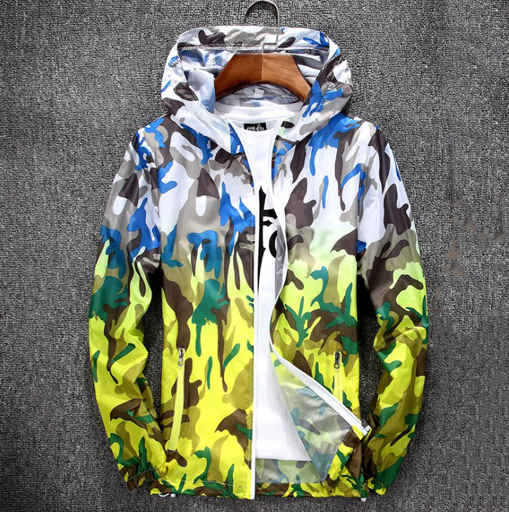New Foldable Camouflage Long Sleeve Hooded Waterproof Summer Jacket Breathable Quick Dry Camping Sun&UV Protection Hiking Jacket
