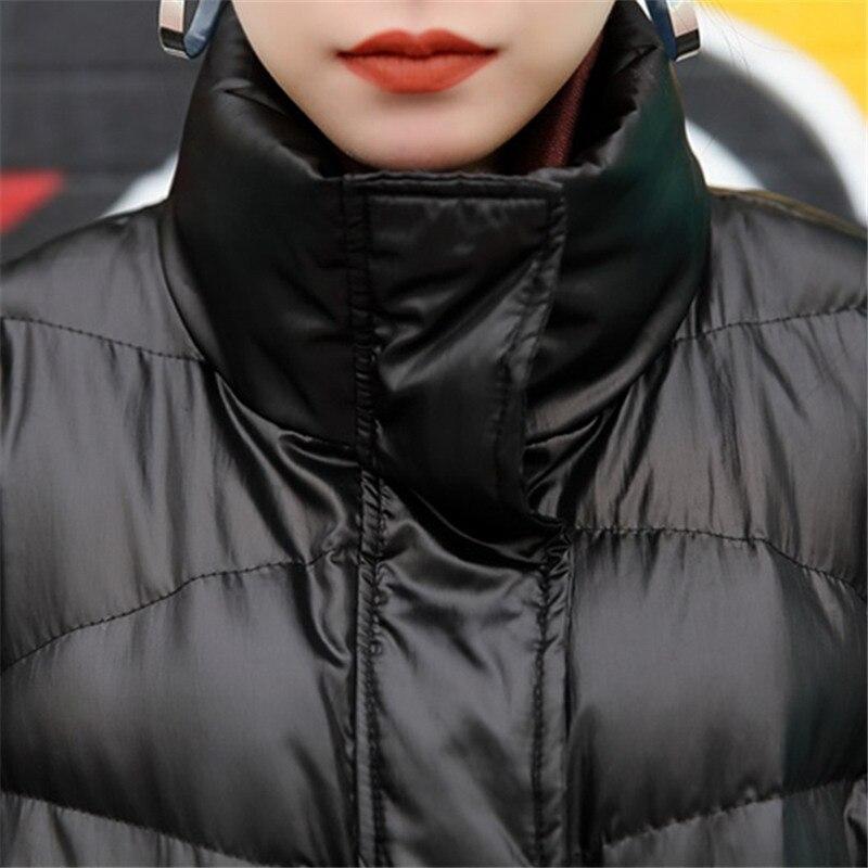 Rembourré Chaud D'hiver Parka Coton Femmes Veste Mode Lâche Surdimensionné Manteau Femme Couleur Hiver Manches Chauve Manteaux Taille Black souris Plus La Solide wIqFxFHTX0