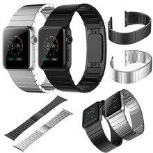 Sigilo tire enlace pulsera de acero inoxidable venda de reloj para apple watch iwatch correa correa negro rosegold plata enlace original