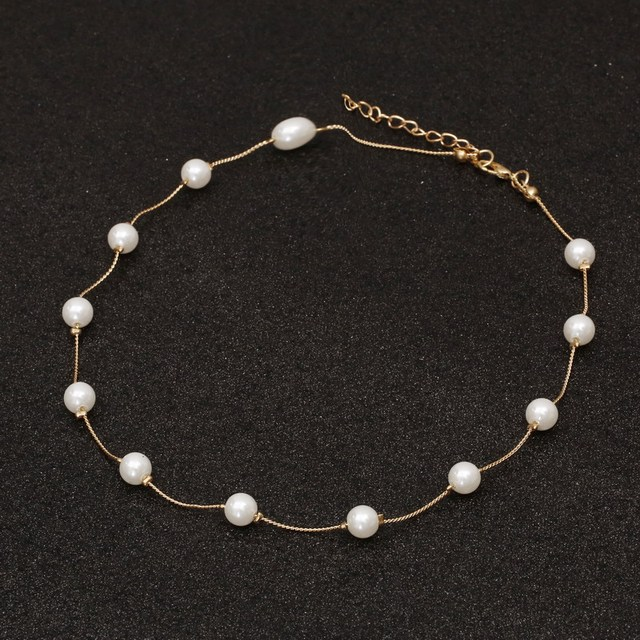 Simulated Pearl Ladies necklace for women 1