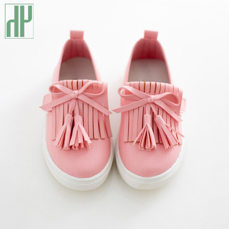 HH Kids shoes spring girls leather shoes princess tassel Flats children shoes girls cute sneakers for toddler girls trainers on AliExpress