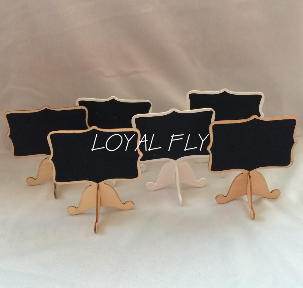 50PCS/LOT Mini Wooden Rectangle Chalkboards Blackboard Table Numbers -Wedding-Candy Signs
