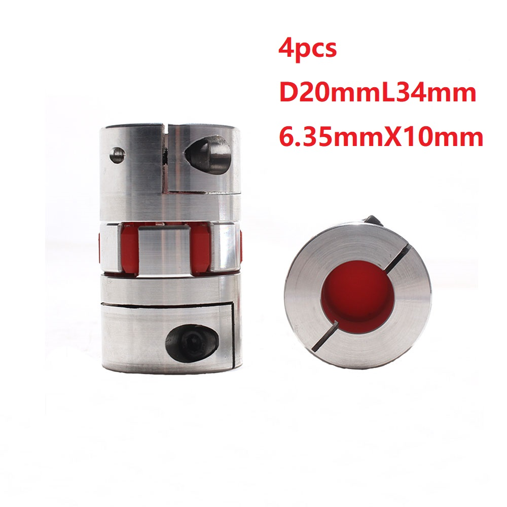 4 Uds 6,35x10 D20L34 eje de aluminio de motor de acoplamiento conector Flexible de piezas de eje cnc 5 uds LC / PC hembra a SC / APC macho fibra óptica brida adaptador de acoplamiento envío gratis
