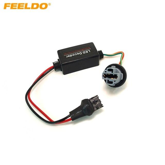 FEELDO 1PC DC12V T20 7440   Prise davertissement, annuleur derreur, résistance de charge libre, décodeur # HQ2270