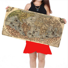 Oversize 900x400mm locking edge mouse pad old map non-slip gaming mouse pad table mats for laptop