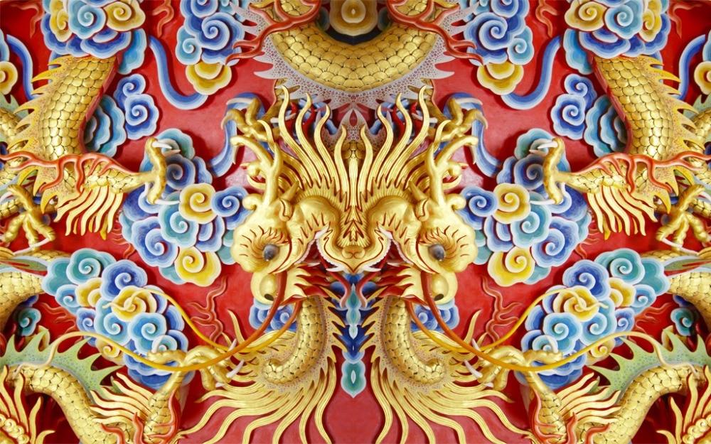 Chambre à coucher stores chinois 3D rideaux pour le salon dragons rideau cuisine 3D Photo rideaux occultants - 2