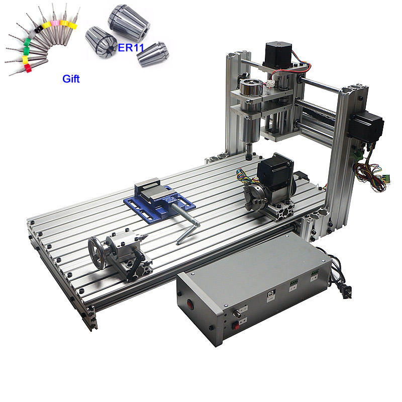 цена на CNC Router Woodworking Machine 3 axis 4 axis CNC 6030 Engraving Cutting Machine 400W USB port