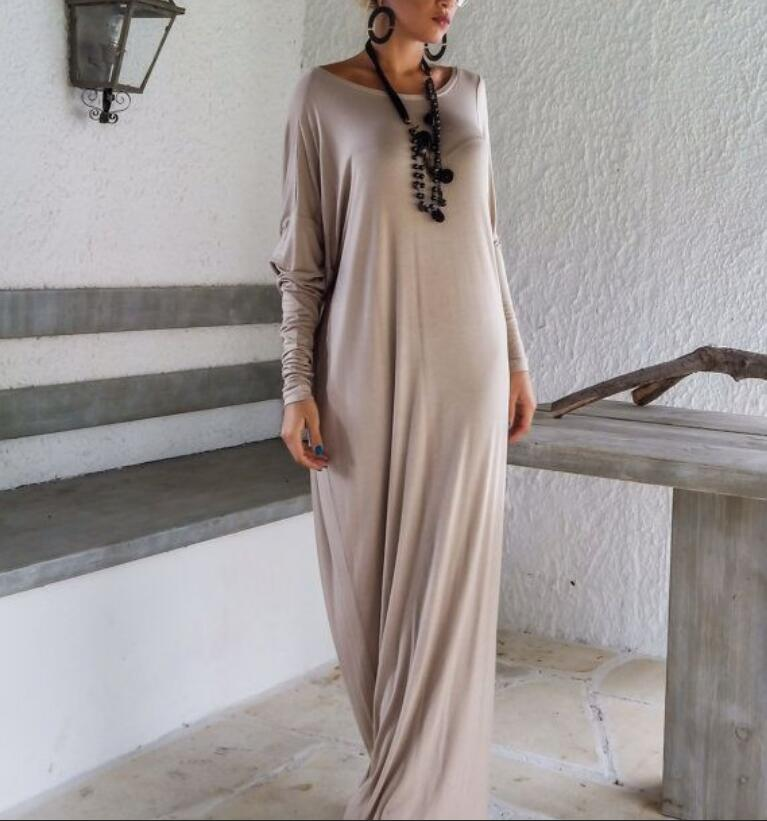 Women Ladies Winter Autumn Women Velvet Long-sleeve V-neck Long Maxi Dress 8-16