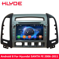 KLYDE Android 8 Octa Core PX5 4GB+32GB Car DVD Multimedia Player Radio For Hyundai SANTA FE 4 Hole 2006 2007 2008 2009 2010 2011