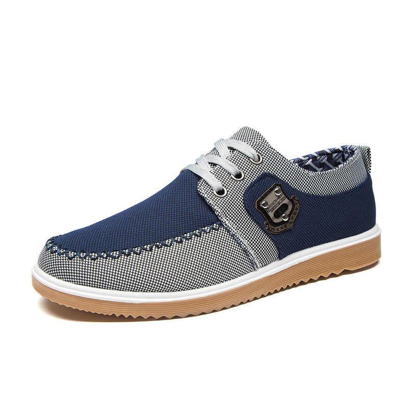 Hohner الرجال رياضية مريحة التهوية جولة اصبع القدم العمل لينة الضحلة الأحذية ارتداء مقاومة منخفضة عارضة حذاء قماش الأصفر