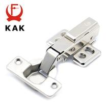 купить KAK Hinge Rustless Iron Hydraulic Hinge Iron Core Damper Buffer Cabinet Cupboard Door Hinges Soft Close Furniture Hardware дешево