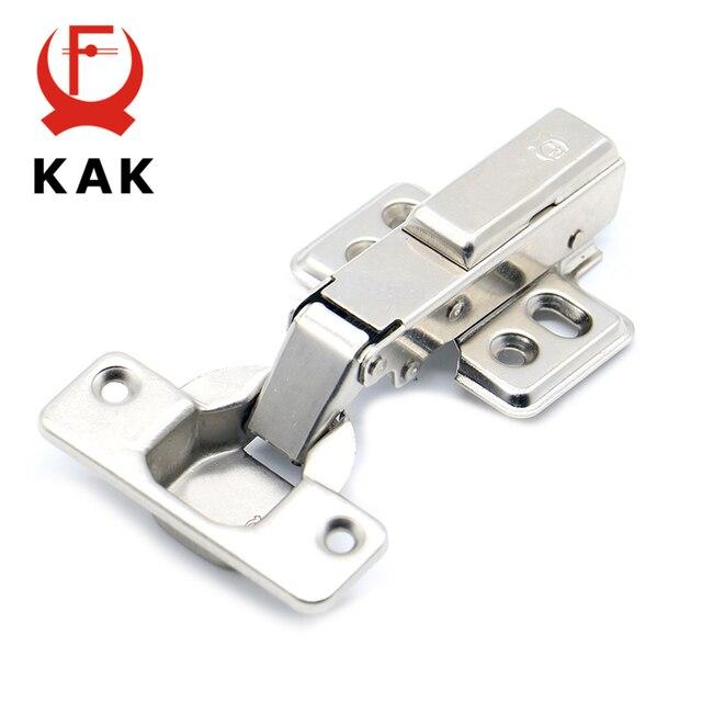 KAK Hinge Rustless Iron Hydraulic Hinge Iron Core Damper Buffer Cabinet  Cupboard Door Hinges Soft Close