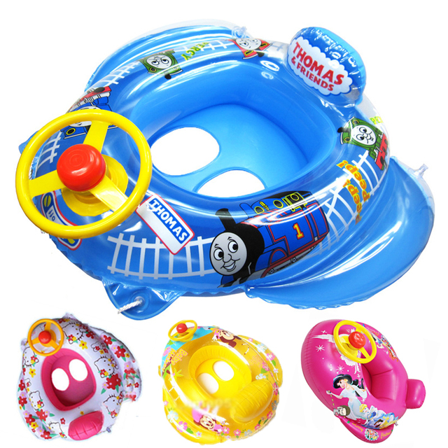 Baby Inflatable KT cat Swimming laps With steering wheel cute ...