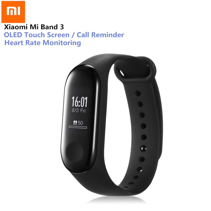 Xiaomi Mi Band 3 Smart Bracelet Heart Rate Monitor Bluetooth 4.2 Wristband 0.78