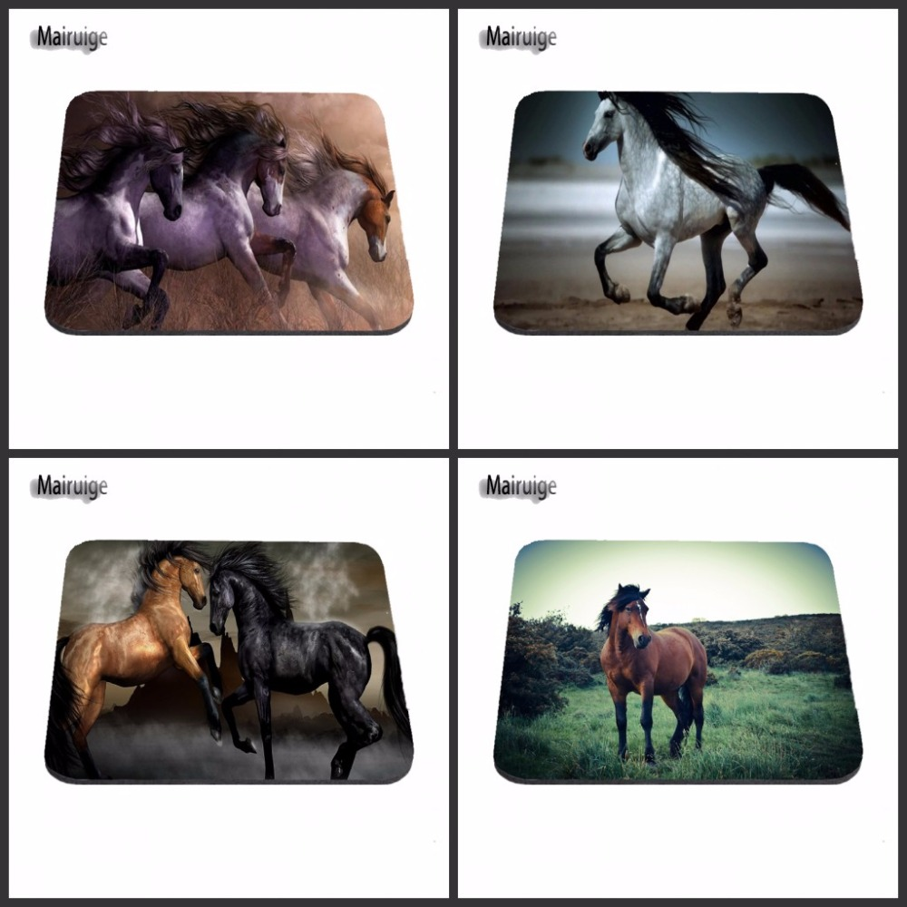 New Arrival Black Wilde Horse Wallpaper Mousepads Radiation Non-Skid Rubber Pad Customized Supported 18*22/25*20/29*25*2cm