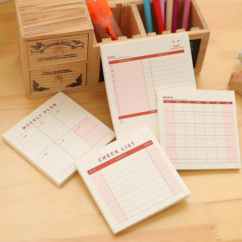 4 Different Post Memo Pads Sticky Notes Office Stationery Kawaii Stickers Scrapbooking Diary Planner For School Supplies BLT9